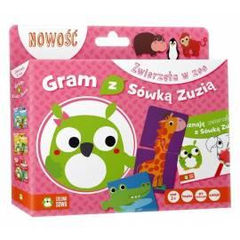 Gram z Sówką Zuzią. Zwierzęta w zoo (Książka +gra)