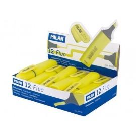 Zakreślacz Fluo płaski żółty (12szt) MILAN