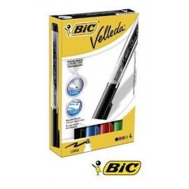 Marker suchościeralny Velleda 4 kolory BIC