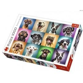 Puzzle 1000 Zabawne psie portrety TREFL