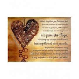 A Kartka składana - Hymn o miłości - brąz