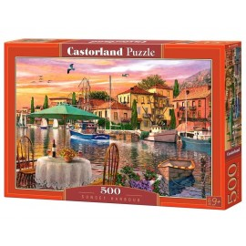 Puzzle 500 Sunset Harbour CASTOR