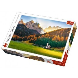 Puzzle 1500 - Kościółek w Dolomitach TREFL