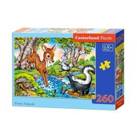 Puzzle 260 Zwierzęta leśne CASTOR