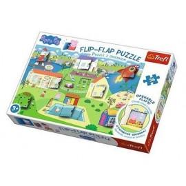 Puzzle 36 z okienkiem Świat świnki Peppy TREFL