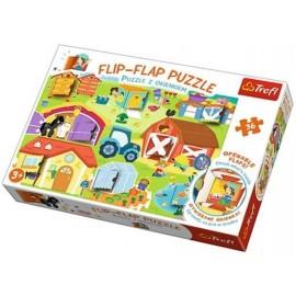 Puzzle 36 z okienkiem Na farmieTREFL