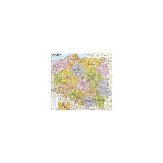 Polska. Mapa admin.-sam. 1:570 000 (listwa)