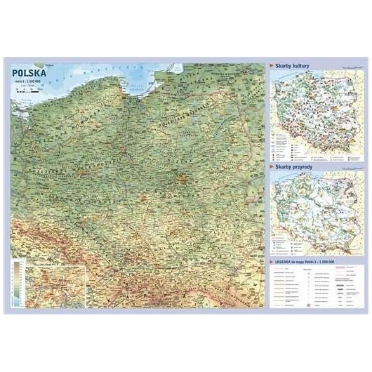 Mapa Polski podręczna 1:1 500 000 (JMP)