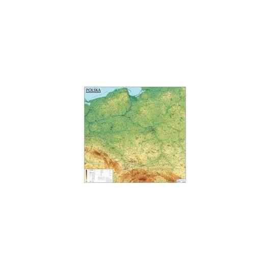 Polska. Mapa ogólnogeograficzna (tuba)