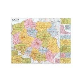 Polska. Mapa kodów pocztowych (listwa)