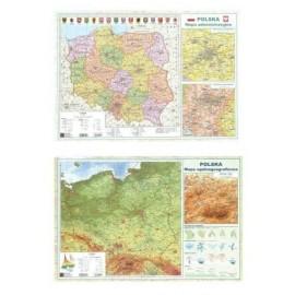 Mapa Polski A2 Dwustronna laminowana ART-MAP