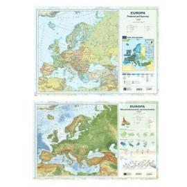 Mapa Europy A2 Dwustronna laminowana ART-MAP