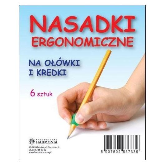Nasadki ergonomiczne na ołówek i kredki (6 szt.)