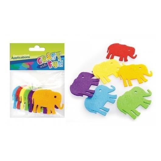 Ozdoba dekoracyjna filc słonie 6szt