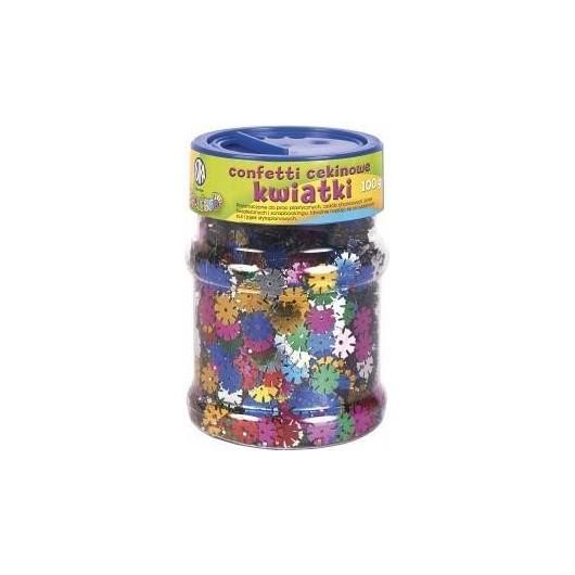 Confetti cekinowe kwiatki mix kolorów 100g ASTRA