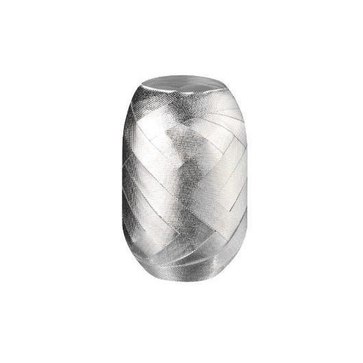 Wstążka kłębuszek 15m srebrna wytłaczana