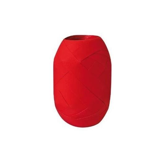 Wstążka kłębuszek 20m/10mm matowa czerwona