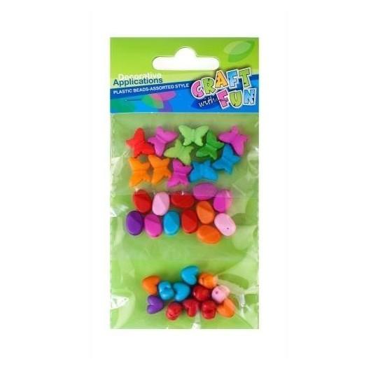 Ozdoba dekoracyjna koraliki plastikowe mix