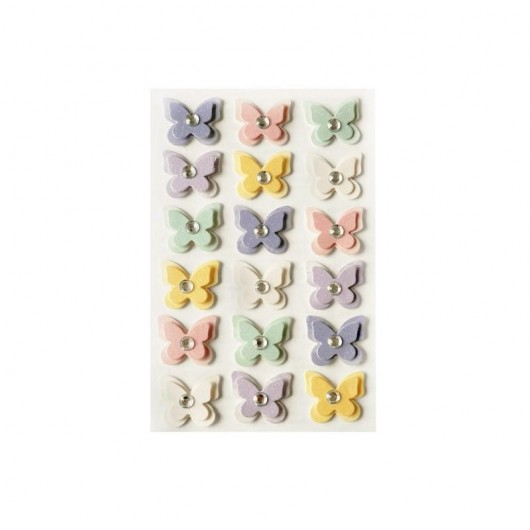 Motyle samoprzylepne pastelowe
