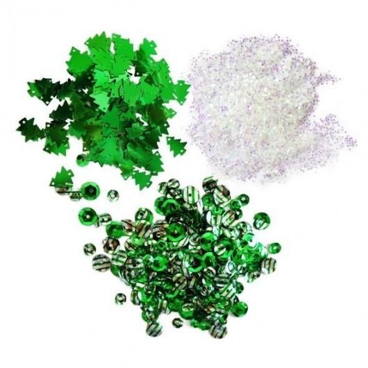 Cekiny - zielone
