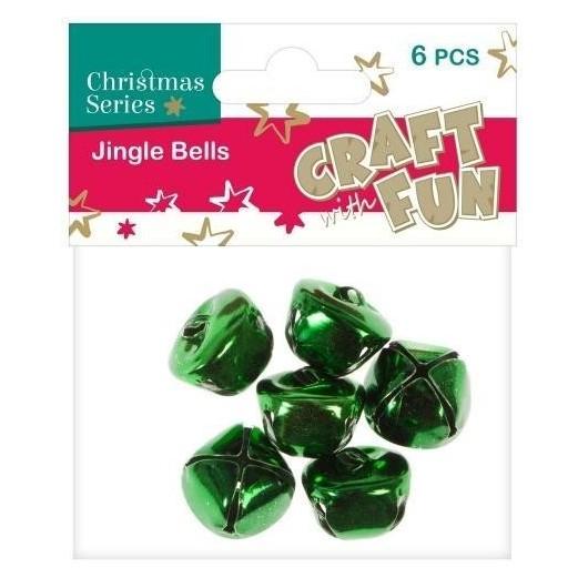 Ozdoba dekoracyjna dzwoneczki zielone 6el