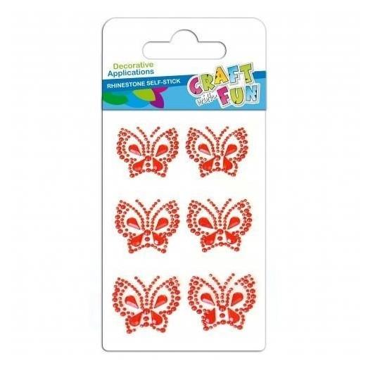 Ozdoba dekoracyjna krysztalki samoprzylepne motyle