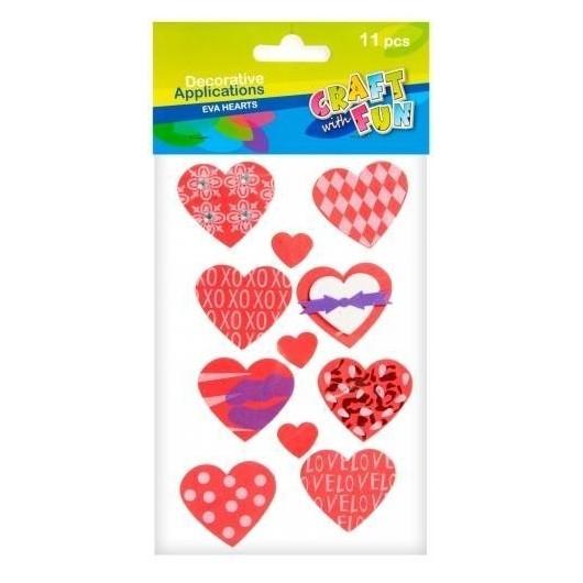 Ozdoba dekoracyjna samoprzylepna pianka serca