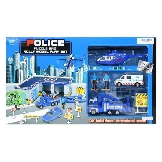 Parking policji z akcesoriami