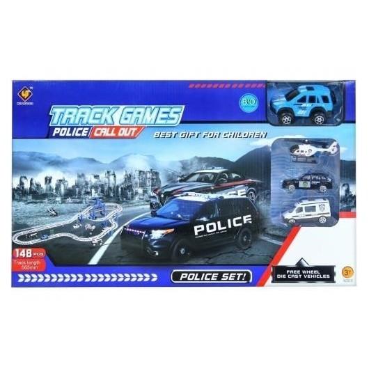 Tor samochodowy metalowy policja