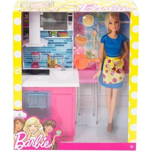 Barbie. Kuchnia z lalką