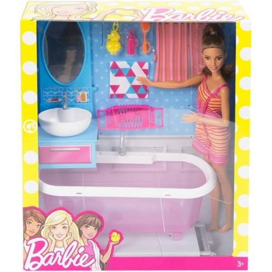 Barbie. Łazienka z lalką i wanną