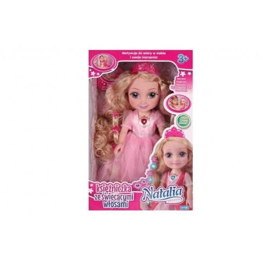 Lalka Natalia księżniczka ze świecącymi włosami