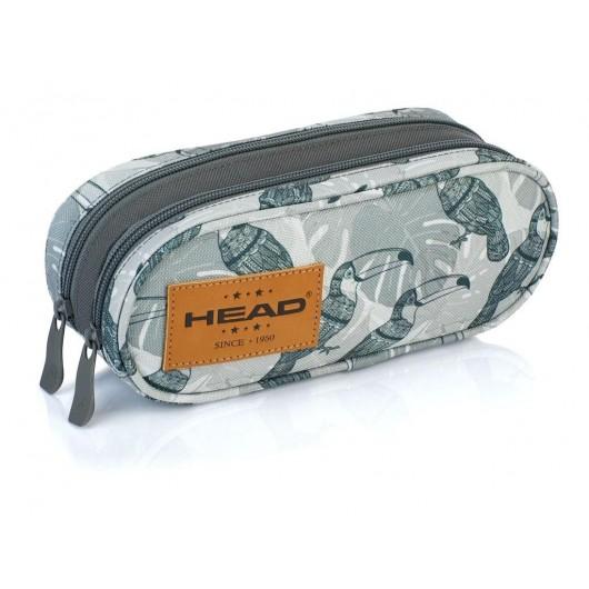 Saszetka piórnik na dwa zamki XL HD-49 Head 2