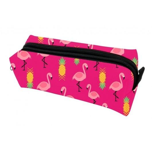 Piórnik PA489 pojedynczy Flamingi różowy MESIO
