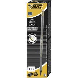 Ołówek Evolution Black z gumką (12szt) BIC
