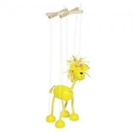 Drewniana marionetka Lew