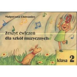 Zeszyt ćwiczeń dla szkół muzycznych klasa 2