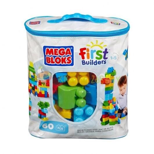Mega Bloks Duża ECO torba z klockami niebieska