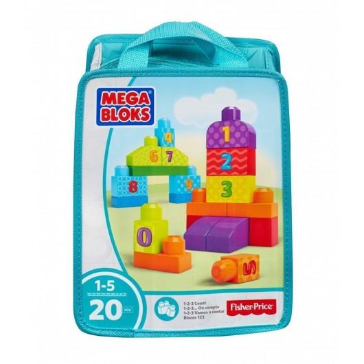Mega Bloks ECO torba z klockami Cyferki