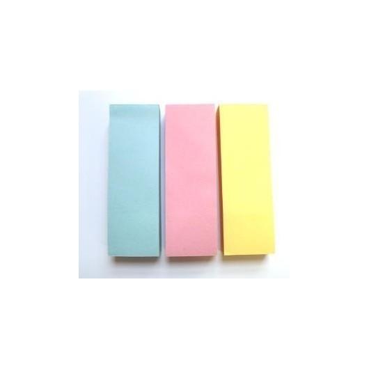 Zakładki indeksujące 25x75mm 3x100szt pastelD.RECT
