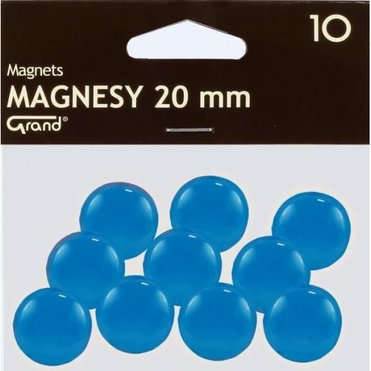 Magnes 20mm niebieski 10szt GRAND