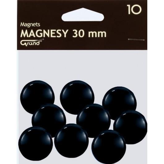 Magnes 30mm czarny 10szt GRAND