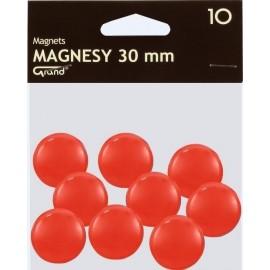 Magnes 30mm czerwony 10szt GRAND