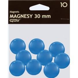 Magnes 30mm niebieski 10szt GRAND