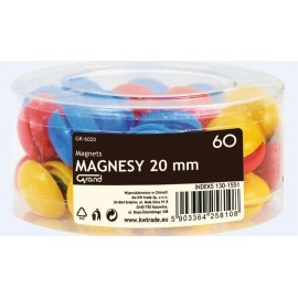 Magnesy 20mm tuba 60szt GRAND