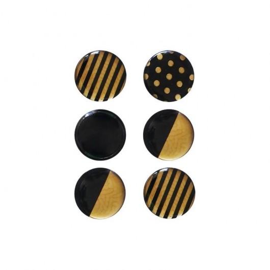 Magnesy czarno-złote