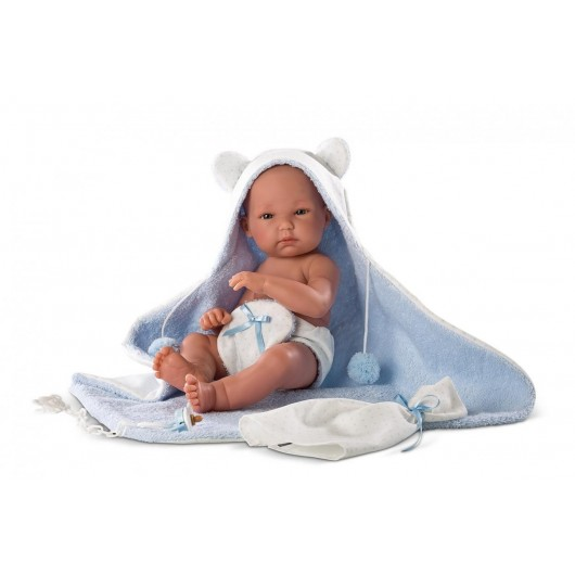 Lalka 63537 Pipo w niebieskim szlafroczku 35 cm