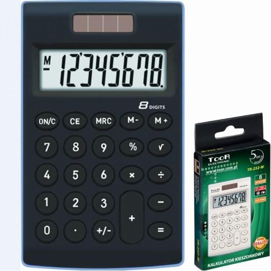 Kalkulator kieszonkowy 8-pozycyjny TR-252-K TOOR