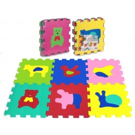 Puzzle piankowe 6 elementów Zwierzęta