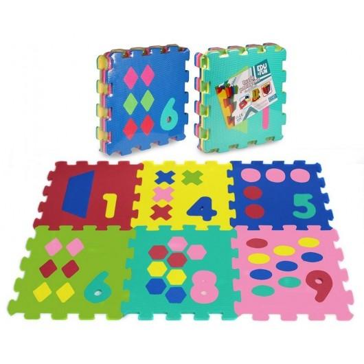 Puzzle piankowe 6 elementów Cyfry